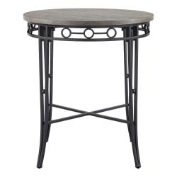 "Powell Mosley Pub Table, 40-1/8"" x 36"", Natural/Black"