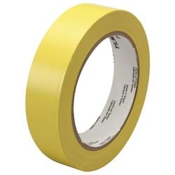 "3M™ 764 Vinyl Tape, 3"" Core, 1"" x 36 Yd., Yellow, Case Of 6"