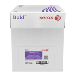 """Xerox® Bold Digital™ Super Gloss Cover, Letter Size (8 1/2"""" x 11""""), 92 (U.S.) Brightness, 8 Pt (170 gsm), FSC® Certified, Ream Of 250 Sheets, Case Of 5 Reams"""