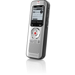 """Philips Voice Tracer Audio Recorder (DVT2000) - 4 GBmicroSD Supported - 1.3"""" LCD - MP3, WAV - Headphone - 270 HourspeaceRecording Time - Portable"""