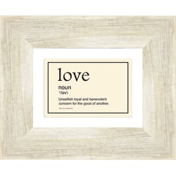 "PTM Images Expressions Framed Wall Art, Love I, 9""H x 11""W, Driftwood"