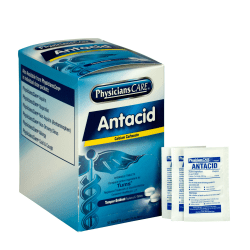 PhysiciansCare Antacid Heartburn Medication, 2 Tablets Per Packet, Box Of 50 Packets