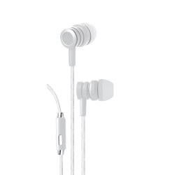 Bytech Wired Earbud Headphones, White, BYAUEB129WT