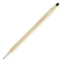 Cross® Classic® Century® 10-Karat Gold-Filled Ballpoint Pen, Medium Point, 1.0 mm, Gold Barrel, Black Ink