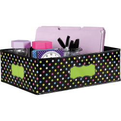 "Teacher Created Resources Decorative Storage Bin - 5"" Height x 11"" Width x 16"" Length - Multi - 1Each"