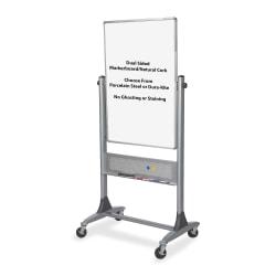 "Balt® Best Rite® Platinum Reversible Melamine/Cork Dry-Erase Whiteboard, 40"" x 30"", Aluminum Frame With Platinum Finish"