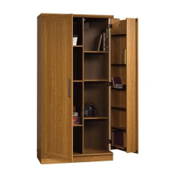"Realspace® 12-Shelf Storage Cabinet, 72""H x 36""W, Sienna Oak"