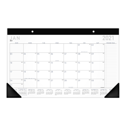 """AT-A-GLANCE® Contemporary Compact Monthly Desk Pad Calendar, 18"""" x 11"""", January To December 2021, SK14X00"""