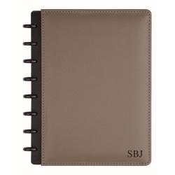 """TUL™ Personalized Custom Note-Taking System Discbound Junior-Size Notebook, 8 1/2"""" x 5 1/2"""", Gray"""