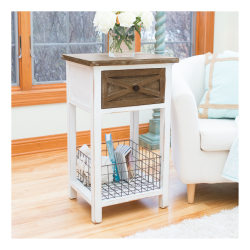FirsTime & Co.® Ashgrove Farmhouse Table, Rectangular, Weathered Brown/Aged White