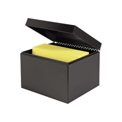 "MMF Steel Card Files - External Dimensions: 9.5"" Width x 8.5"" Depth x 7"" Height - Heavy Duty - Steel - Black - For Card - Recycled - 1 Each"