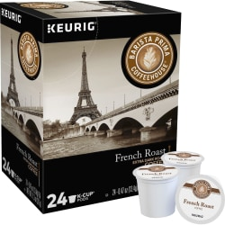 Barista Prima Coffeehouse® French Roast Coffee Single-Serve K-Cup®, 0.31 Oz, Carton Of 24