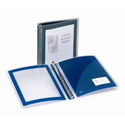 """Avery® Flexi-View™ 3-Ring Binder With Poly Extended Cover, 1"""" Round Rings, Black"""