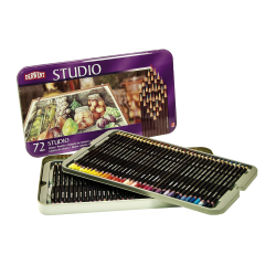 Derwent Studio Pencil Set, Assorted Colors, Set Of 72