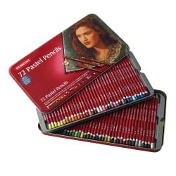Derwent Pastel Pencil Set, Assorted Colors, Set Of 72 Pencils