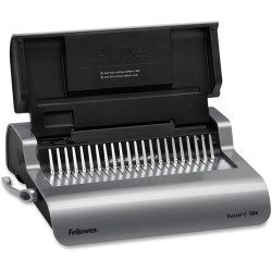 Fellowes® E 500 Electric Comb Binding Machine With Starter Kit, Silver/Black