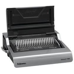 Fellowes® Galaxy-E™ 500 Electric Comb Binding Machine With Starter Kit, Silver/Black