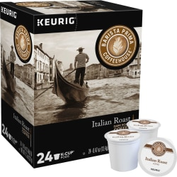 Barista Prima Coffeehouse® Italian Roast Coffee Single-Serve K-Cup®, 0.31 Oz, Carton Of 24