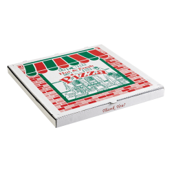 """ARVCO Corrugated Pizza Boxes, 8"""" x 8"""", Kraft, Pack Of 50 Boxes"""