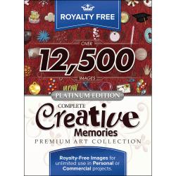 Royalty Free Complete Creative Memories Premium Art Collection, Platinum Edition