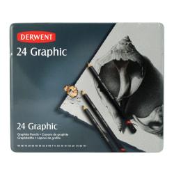 Derwent Graphic Graphite Pencils, Set Of 24