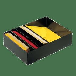 "SteelMaster® 5-Rack Stationery/Form Holder Drawer, 3 3/4"" x 11 3/8"" x 21"", Black"