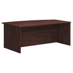 """HON® Foundation Laminate Bowfront Desk Shell, 72"""" x 42"""", Mahogany"""