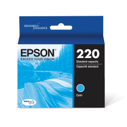 Epson® DuraBrite® Ultra Ink Cartridge, Cyan, T220220-S