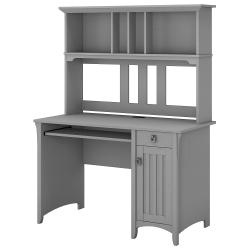 Bush Furniture Salinas Mission Desk With Hutch, Cape Cod Gray, Standard Delivery