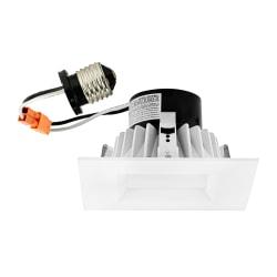 "Luminoso LED 4"" Retrofit Trim Square Fixture, 4"", Dimmable, 5000 Kelvin, 11 Watt, 800 Lumens"