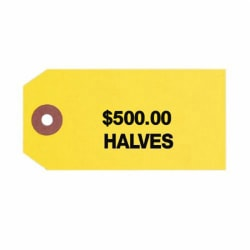 """Control Group #3 Coin Bag Tags, 560086, 1-7/8"""" x 3-3/4"""", Sand, Pack Of 1000"""