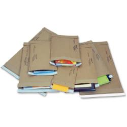 "Jiffy Mailer Jiffy Padded Mailers - Multipurpose - #0 - 6"" Width x 10"" Length - Flap - Kraft - 250 / Carton - Natural Kraft, Satin Gold"