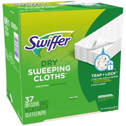Swiffer® Refills, Sweeper Duster, Fresh Scent, White, Pack Of 37 Refills