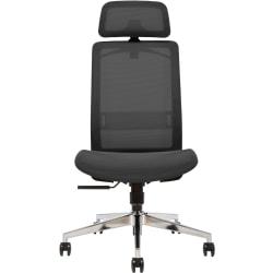 Sinfonia Sing Ergonomic Mesh High-Back Armless Task Chair, Black