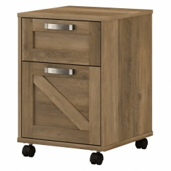 Kathy Ireland Home by Bush® Furniture Cottage Grove 2 Drawer Mobile File Cabinet, Reclaimed Pine, Standard Delivery