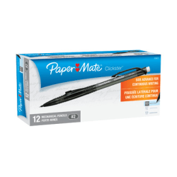 Paper Mate Clickster Grip Mechanical Pencil - 0.5 mm Lead Diameter - Refillable - Transparent Barrel - 1 Dozen