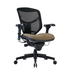 WorkPro® Quantum 9000 Series Mesh/Fabric Ergonomic Mid-Back Manager's Chair, Beige/Black