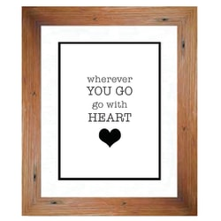 """PTM Images Photo Frame, Go With Heart, 14""""H x 1 3/4""""W x 16""""D, Natural Wood"""