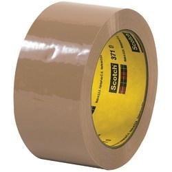 "3M™ 371 Carton Sealing Tape, 3"" Core, 2"" x 110 Yd., Tan, Case Of 6"