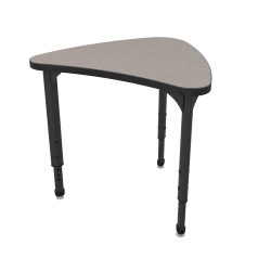 Marco Group Apex™ Series Adjustable Chevron Student Desk, Gray Nebula/Black