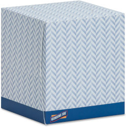 Genuine Joe Cube Box Facial Tissue - 2 Ply - Interfolded - White - Soft, Comfortable, Smooth - For Face - 85 Quantity Per Box - 1728 / Pallet