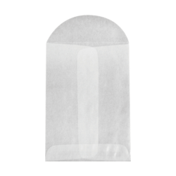 "LUX Open-End Envelopes With Flap Closure, 3"" x 4 1/2"", Glassine, Pack Of 500"