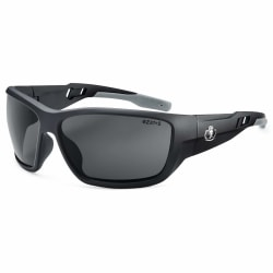 Ergodyne Skullerz® Safety Glasses, Baldr, Matte Black Frame, Smoke Lens