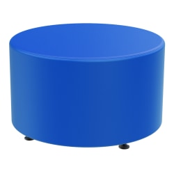 Marco Group Sonik Round Ottoman, Pool Blue