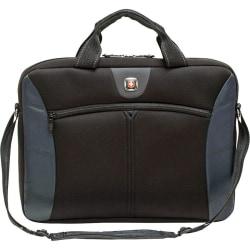 """Wenger® Sherpa 17.3"""" Slimcase Computer Sleeve, Black/Blue"""