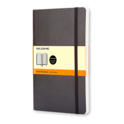 """Moleskine Classic Soft Cover Notebook, 5"""" x 8-1/4"""", Ruled, 240 Pages (120 Sheets), Black"""