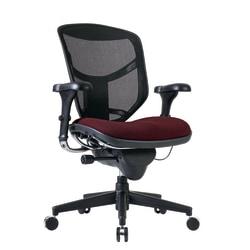 WorkPro® Quantum 9000 Series Ergonomic Mesh/Premium Fabric Mid-Back Chair, Burgundy/Black