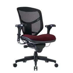 WorkPro® Quantum 9000 Series Mesh/Fabric Ergonomic Mid-Back Manager's Chair, Burgundy/Black