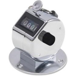 Advantus Desk Model Tally II Tally Counter - 4 Digit - Finger Ring, Desk Mountable - Chrome
