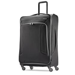 "American Tourister® 4 KIX Rolling Spinner, 28 1/4""H x 19""W x 10 1/2""D, Black/Gray"